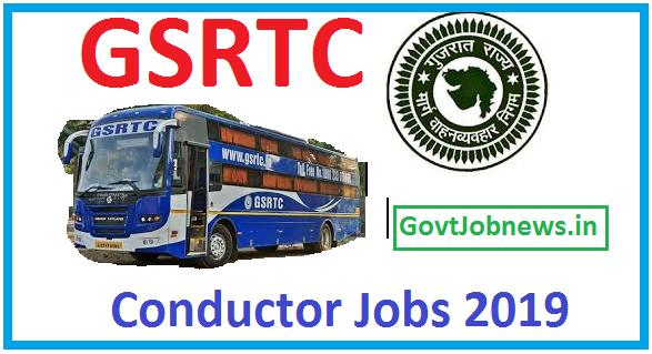 GSRTC Conductor Jobs Notification 2019-20