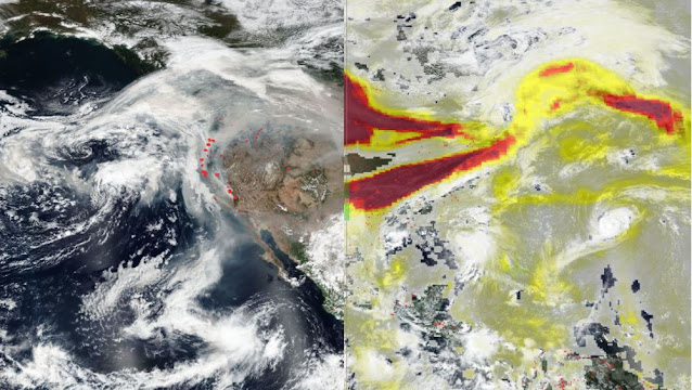 satellite images smoke and particles