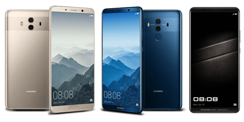 huawei mate 10 vs mate 10 pro vs mate x porsche design. Black Bedroom Furniture Sets. Home Design Ideas