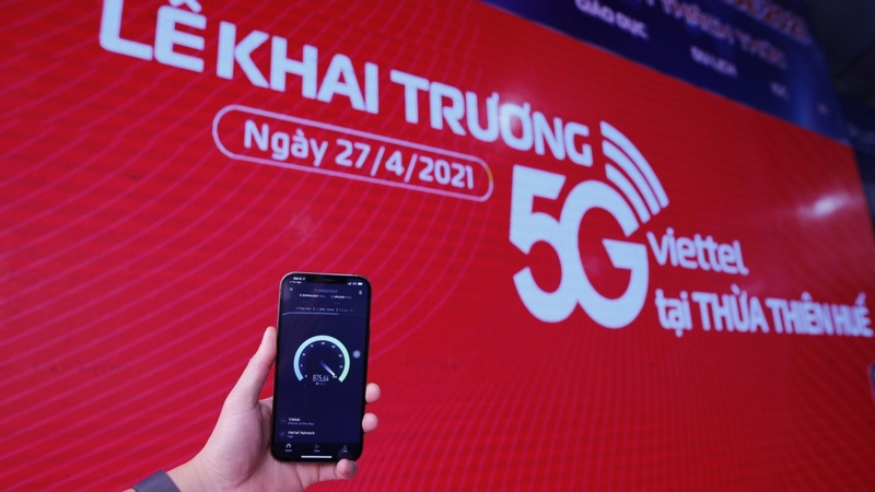 Ảnh minh họa: Khai trương mạng 5G Viettel tại Thừa Thiên Huế.