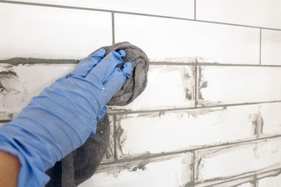 clean up grout
