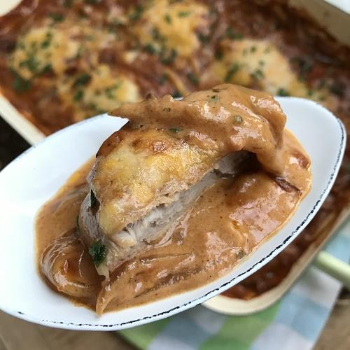 BBQ-Schweinefilet mit Schmorzwiebeln aus dem Backofen