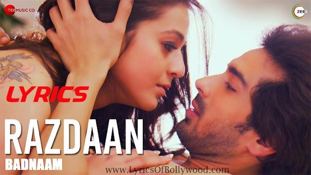 Razdaan Song Lyrics | Badnaam | Priyal Gor, Mohit Sehgal | Soham Naik | Harish Sagane