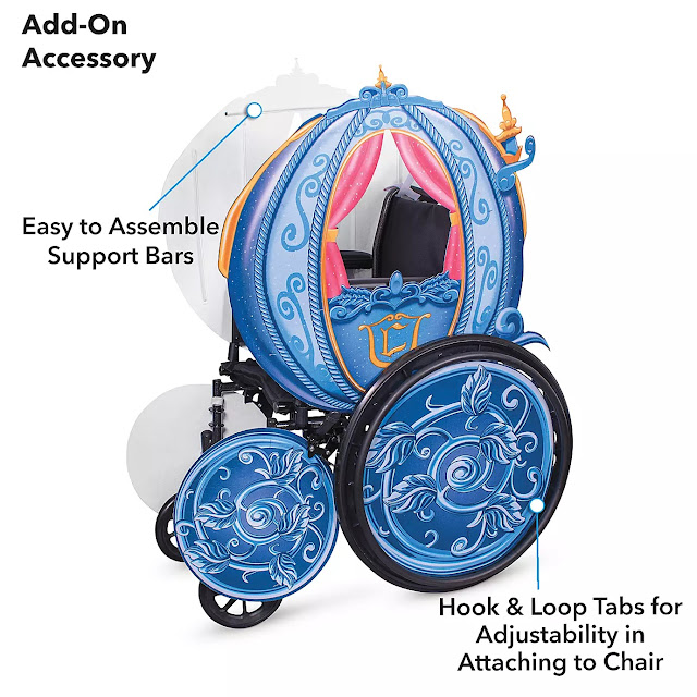Disney Cinderella's Coach Wheelchair Cover Set by Disguise