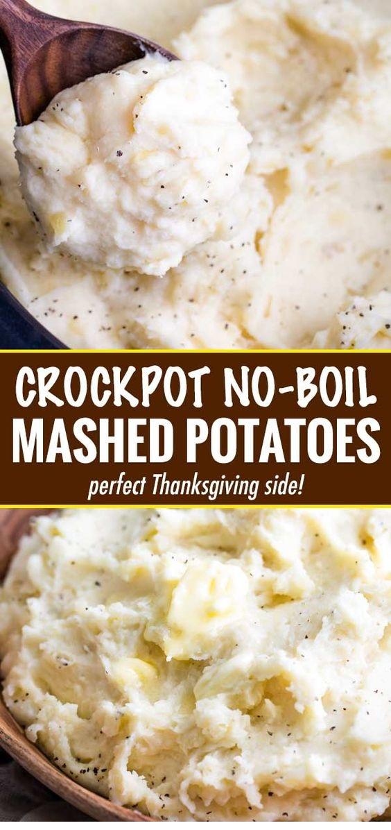 Homestyle Crockpot (No-Boil) Mashed Potatoes