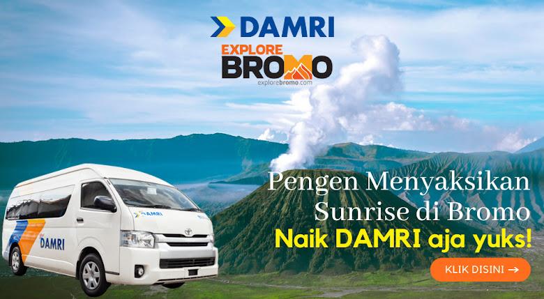 rute baru bus damri kota batu ke gunung bromo