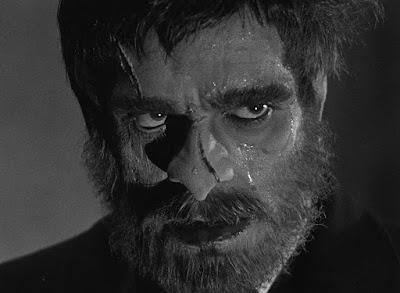 Boris Karloff plays the menacing, brooding butler Morgan in the 1932 classic The Old Dark House