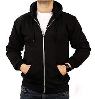 T.N.X Men's Cotton Hooded Sweatshirt Jet Black