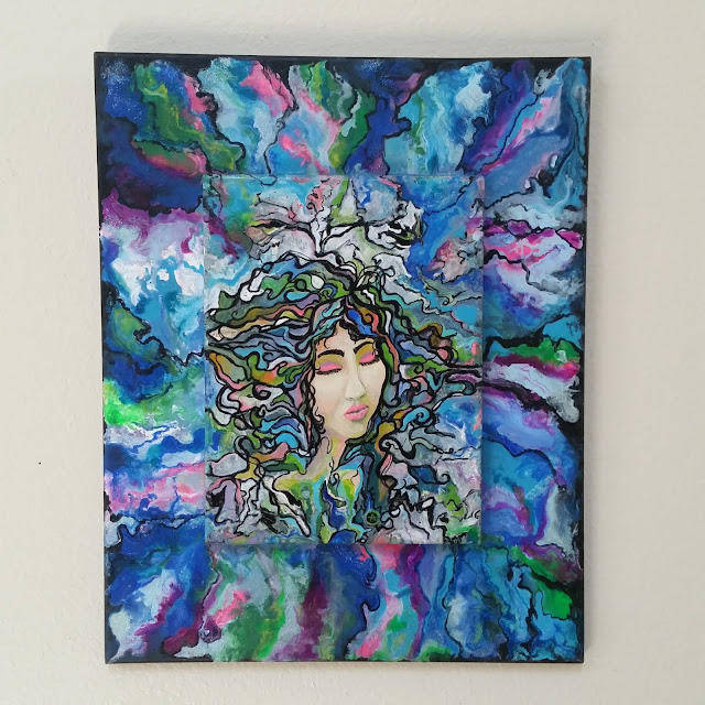 One with the universe- Dream painting by Eileenaart