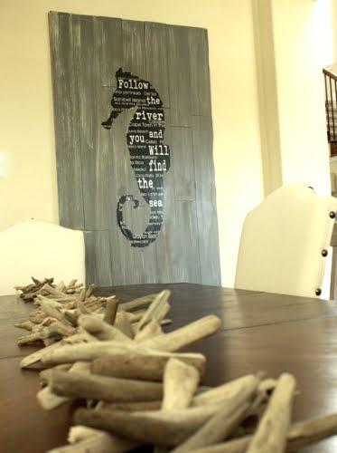 how to make seahorse wall art