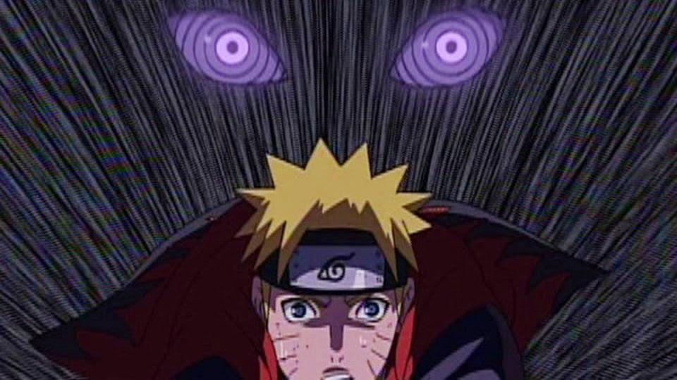 Naruto atrapado por Nagato