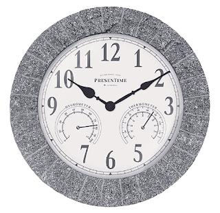 $27.59, PresenTime & Co 14 Inch in/Outdoor Garden Clock