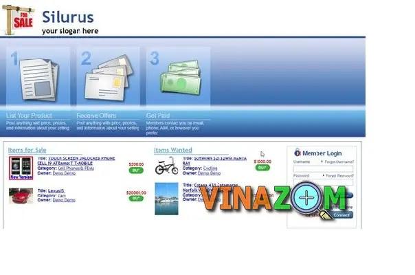silurus classifieds tạo website rao vặt