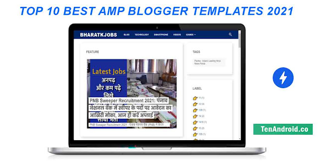 Best 10 Amp blogger template 2021