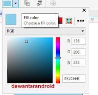 mengisi kode hex/kode rgb warna