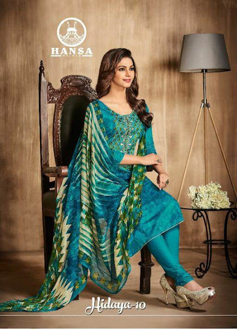 Hansa Hidya vol 10 Cotton dress Material