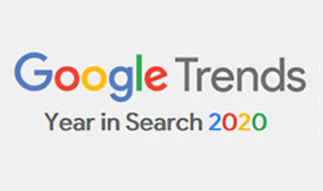Google searches in the year 2020