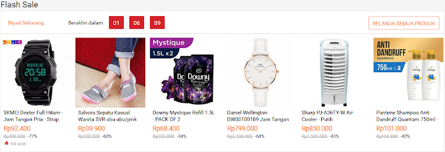 Promo Flash sale lazada