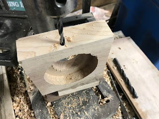 Drilling a hole in the side