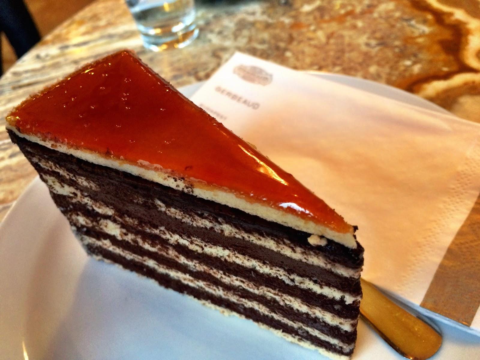 The tasty Dobos cake, Cafe Gerbeaud, Budapest