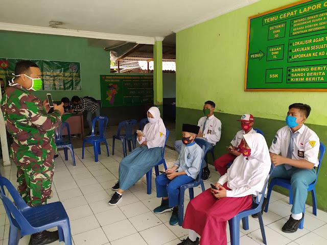 Bantu Beban Orang Tua Murid, TNI Ajak Siswa Manfaatkan Wifi Gratis Di Koramil 12 Mranggen