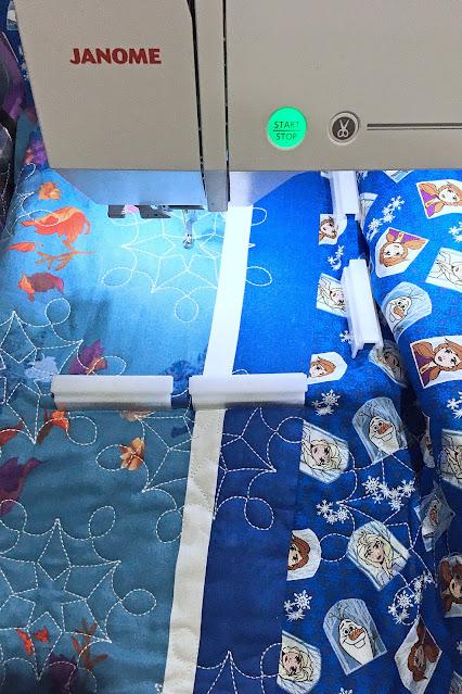 A Bit of Scrap Stuff Blog #ABitofScrapStuff #Quilt #Janome #JanomeMaker #MachineEmbroidery #DisneyFrozen