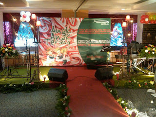 Dekorasi backdrop tema christmas