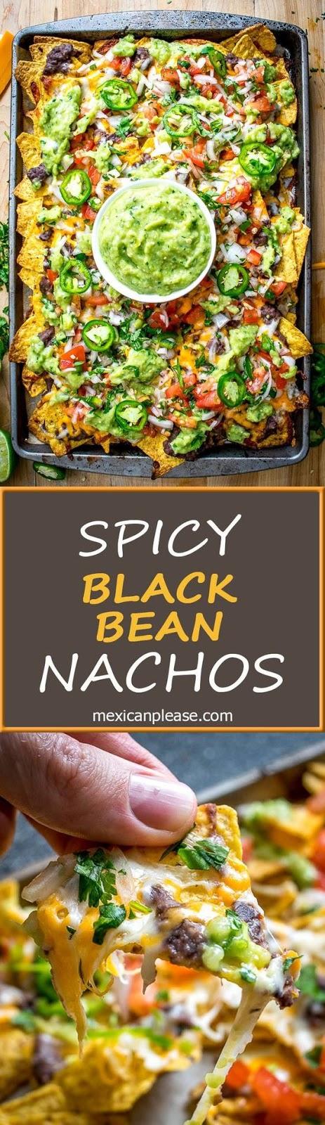 Spicy Black Bean Nachos