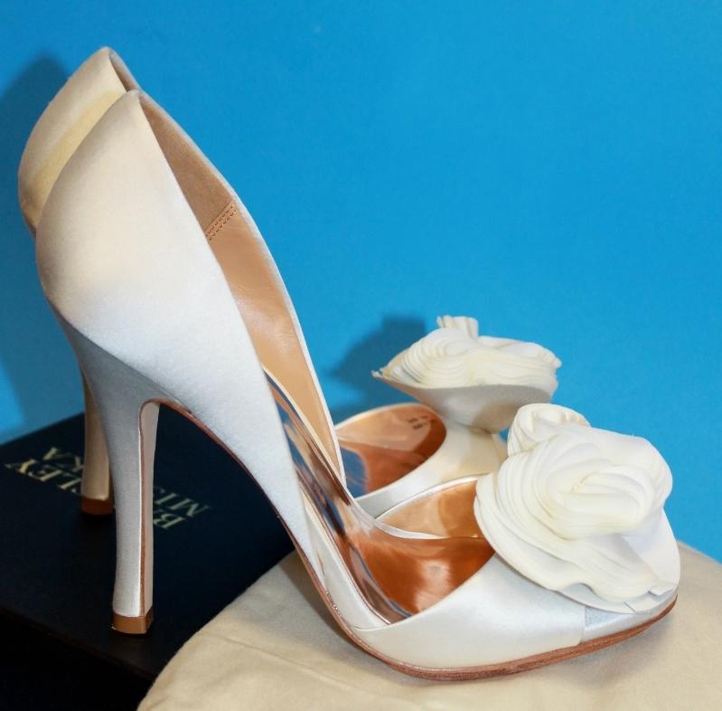 badgley mischka blossom wedding shoes