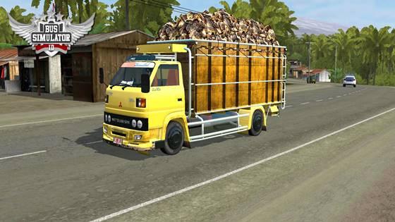 mod bussid truck umplung muatan sawit