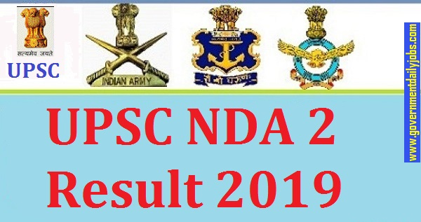 UPSC NDA 2 Result 2019 Released
