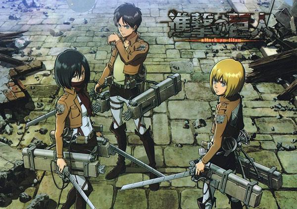 Attack on titan - anime dengan karakter terkuat