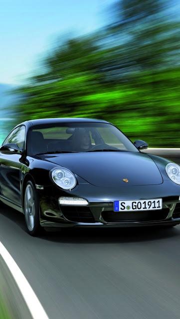 iPhone 5 Wallpaper - 2011 Black Porsche 911 Black Edition