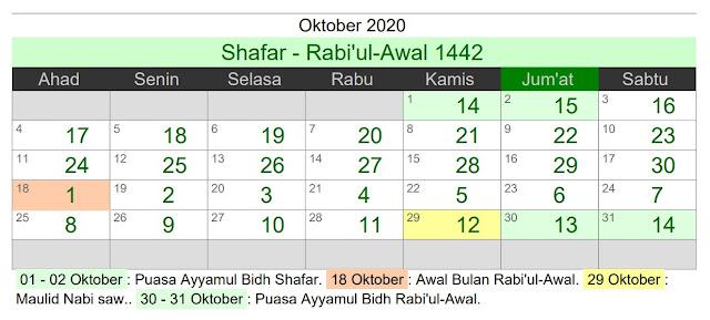 Kalender Islam 2020