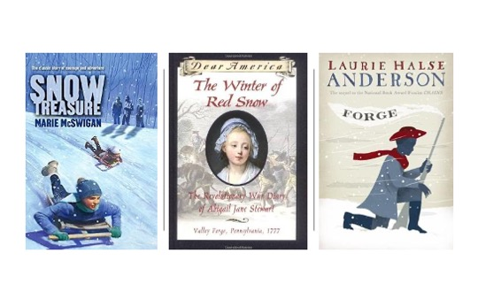 Image of Forge, Snow Treasure, and Winter of Red Snow in Pin image for 15 Winter Themed Novels for Upper Elementary