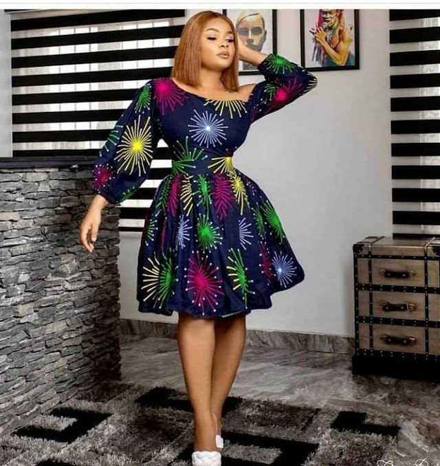 Latest Ankara Gown Styles 2021: Trendy Short Gown Styles