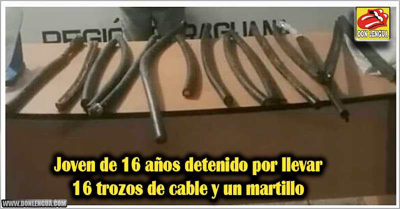 Joven de 16 años detenido por llevar 16 trozos de cable y un martillo
