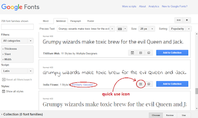 how to use google fonts in blogger blogs