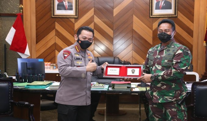 Usai Dilantik, Kapolri Laksanakan Kunjungan Kehormatan ke Lembaga Negara, Kali Ini Jendral Listyo Kunjungi KSAD