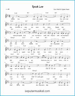 chord speak low 1 lagu jazz standar