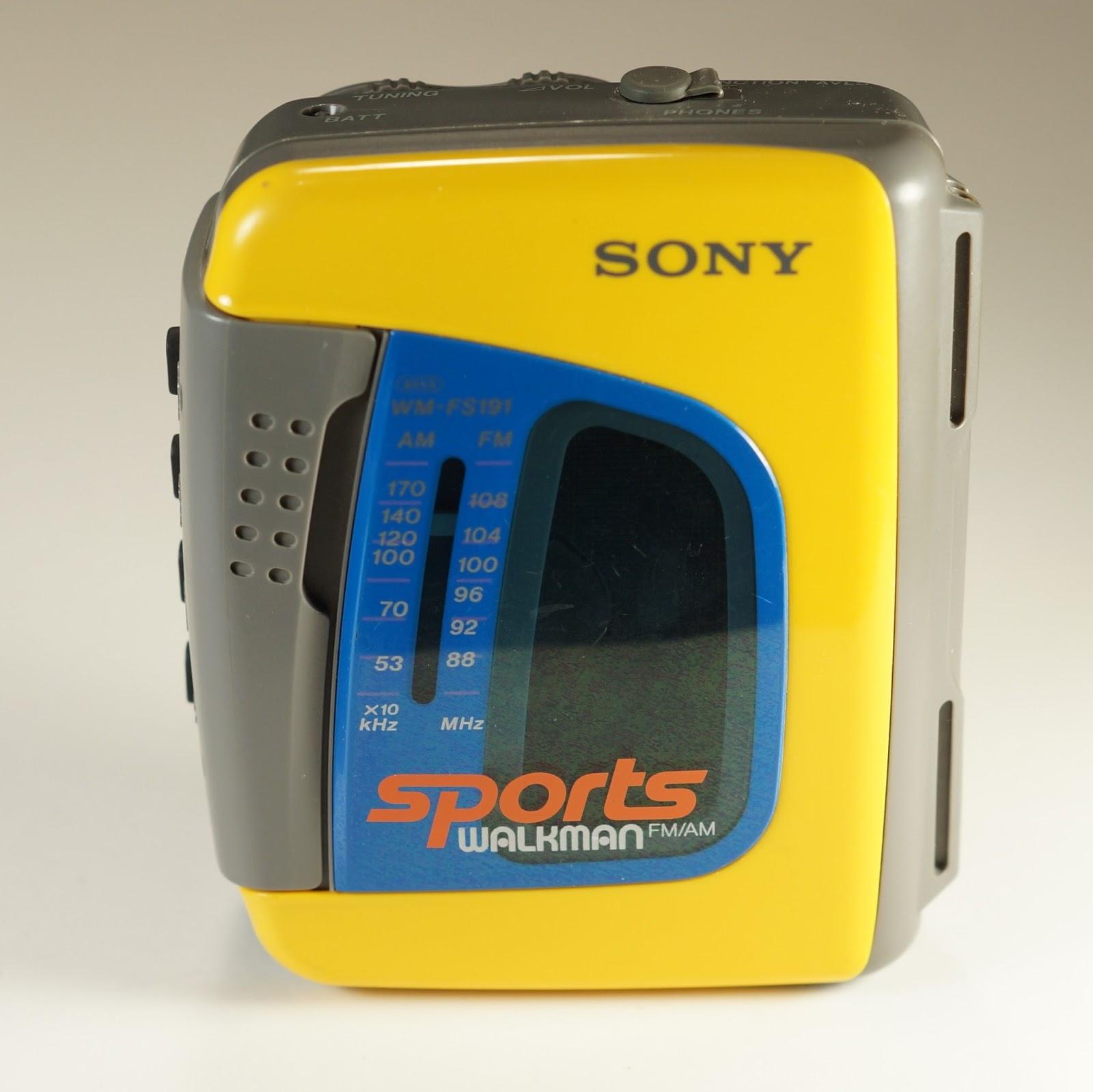 Sony Walkman Wm Fs191 Yellow Sports Portable Cassette