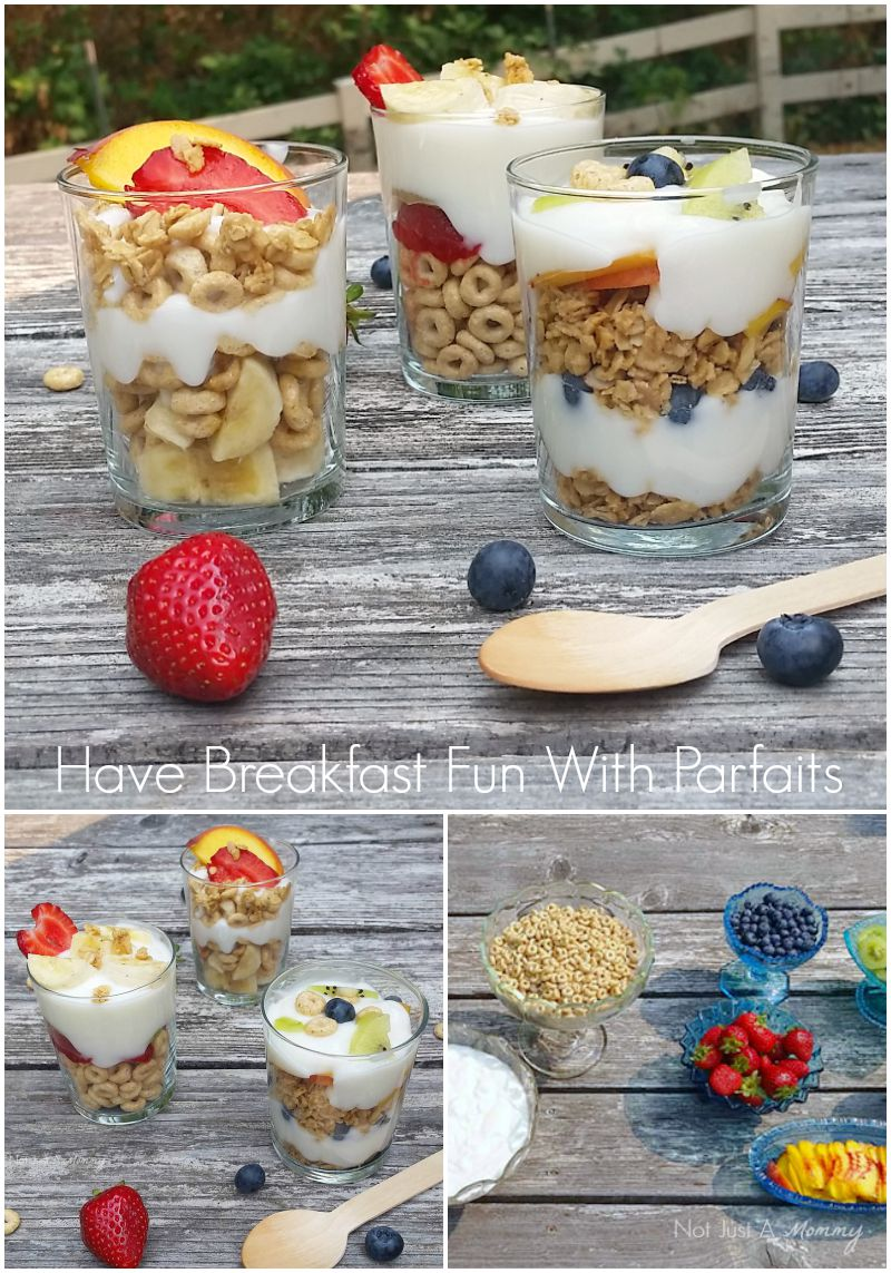 Have fun and set up a parfait bar for breakfast