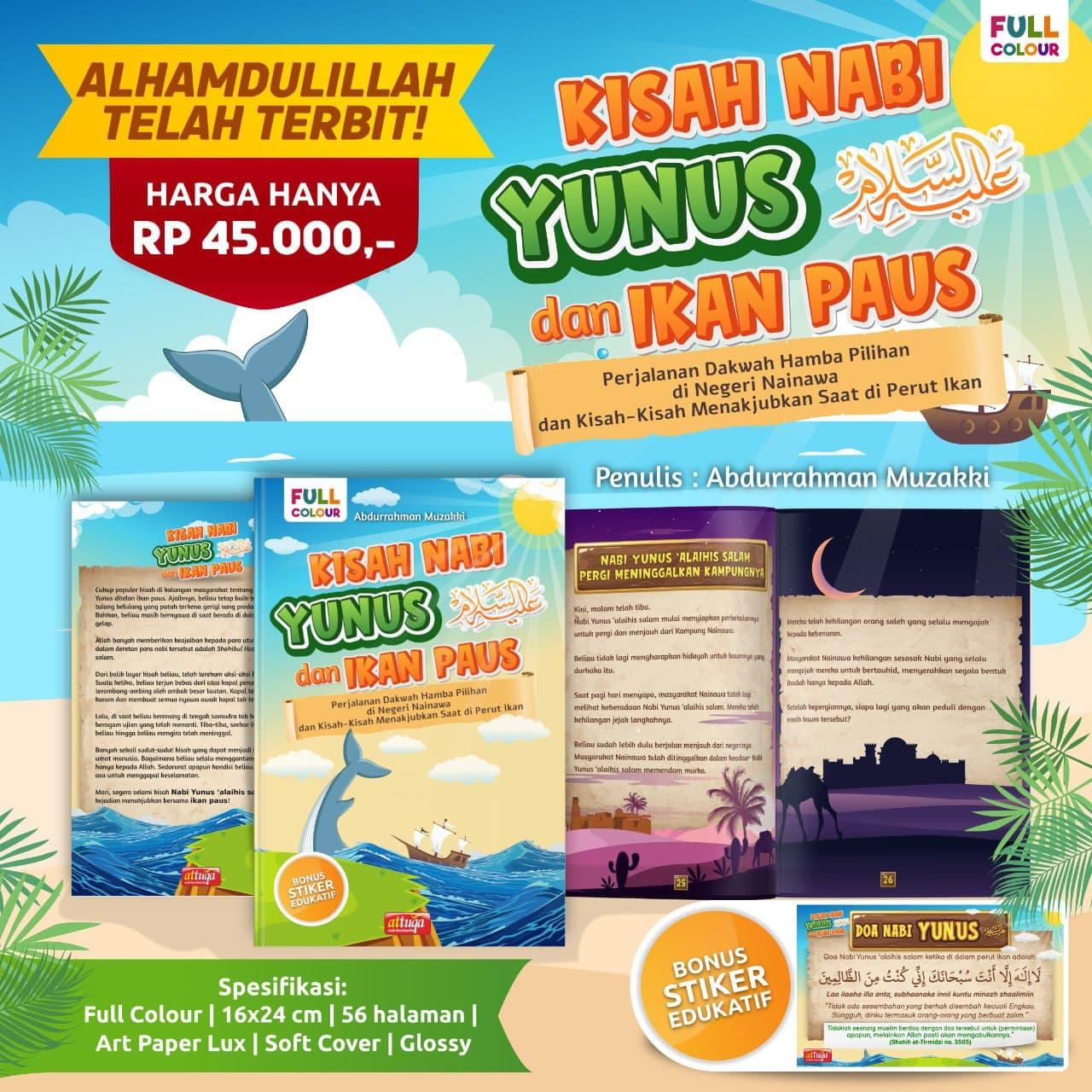 Buku Anak Kisah Nabi Yunus dan Ikan Paus Attuqa
