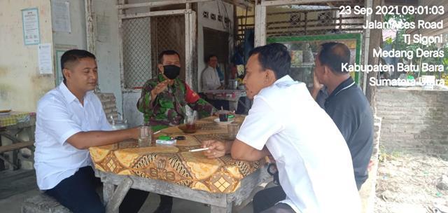 Cegah Penyebaran Covid-19, Personel Jajaran Kodim 0208/Asahan Laksanakan Komsos Dengan Beri Himbauan Protkes