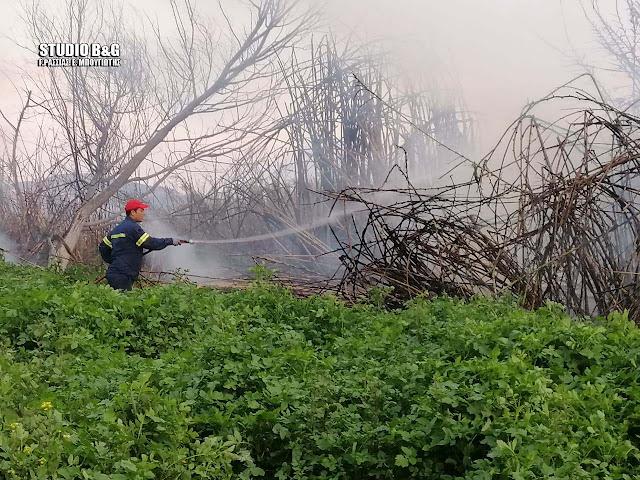 Πυρκαγιά στον Ίναχο Αργολίδας