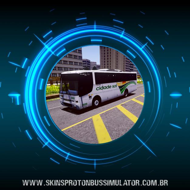 Skin Proton Bus Simulator - El Buss 340 MB OF-1721 Euro II 4X2 Viação Cidade Sol
