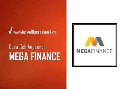 Cek Angsuran Mega Finance