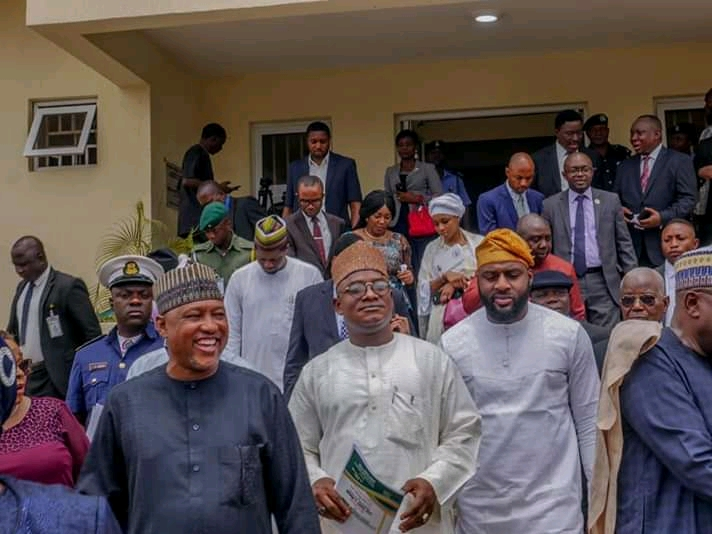 Photos of Oyo State Speaker, Rt. Hon. Adebo Ogundoyin and Others at The Commissioning of ICPC Complex in Oyo State teelamford 3