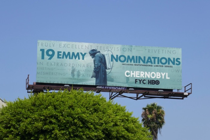 Chernobyl 19 Emmy nominations billboard