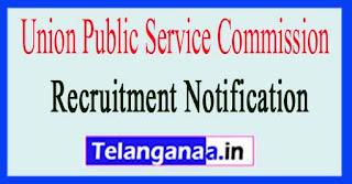 UPSC Union Public Service Commission Recruitment Notification 2017